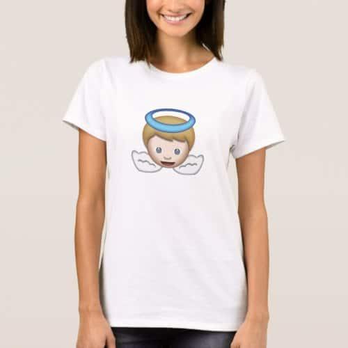 Baby Angel Emoji T-Shirt for Women