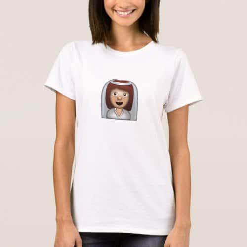 Bride With Veil Emoji T-Shirt for Women