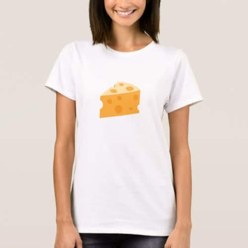 Cheese Wedge Emoji T-Shirt for Women