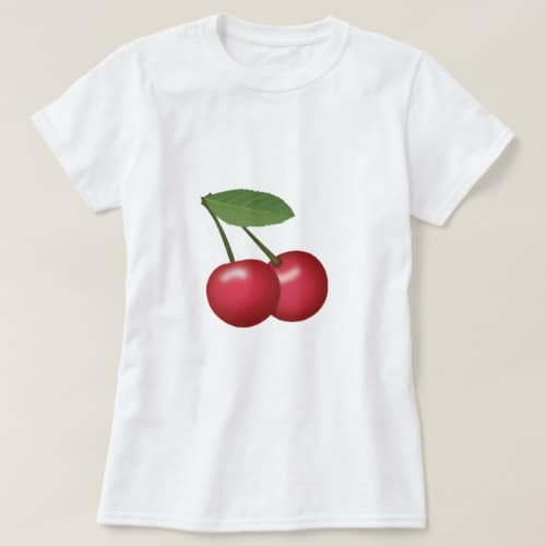 Cherries Emoji T-Shirt for Women