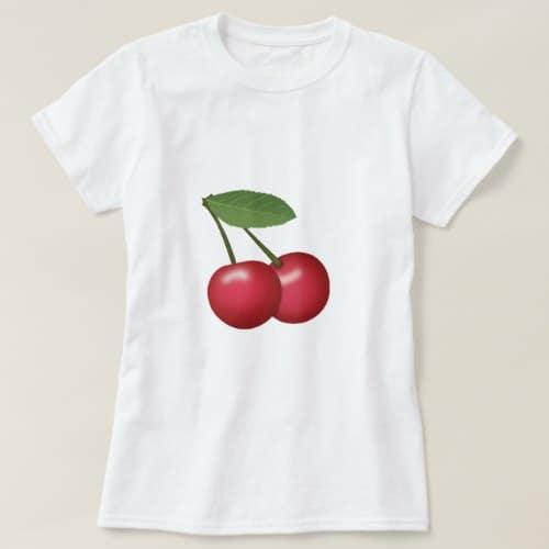 Cherries Emoji T-Shirt for Women