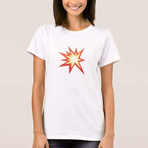 Collision Symbol Emoji T-Shirt for Women