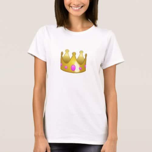 Crown Emoji T-Shirt for Women