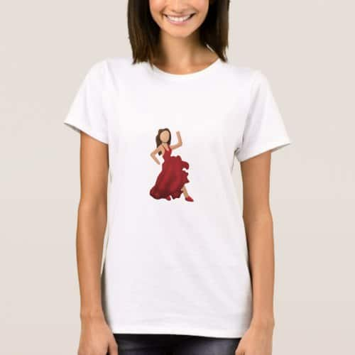 Dancer Emoji T-Shirt for Women