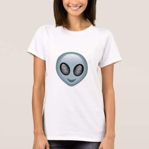 Extraterrestrial Alien Emoji T-Shirt for Women