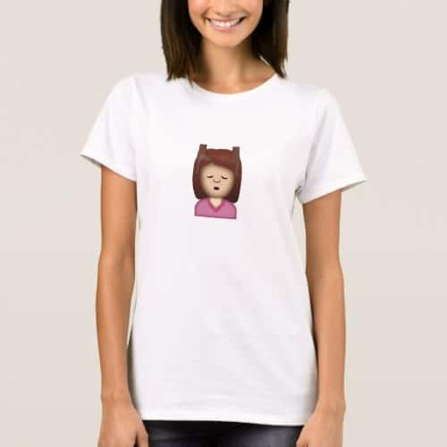 Face Massage Emoji T-Shirt for Women