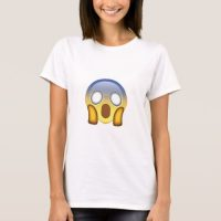 Face Screaming In Fear Emoji T-Shirt for Women