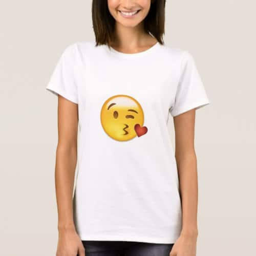 Face Throwing A Kiss Emoji T-Shirt for Women