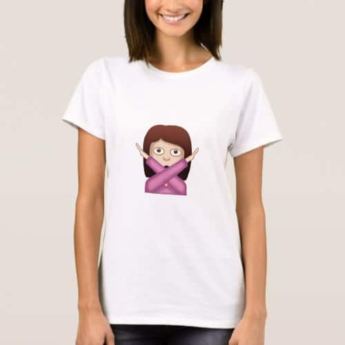 Face With No Good Gesture Emoji T-Shirt for Women
