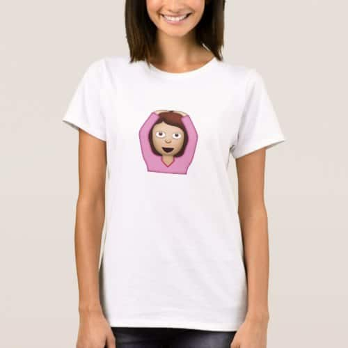 Face With OK Gesture Emoji T-Shirt for Women