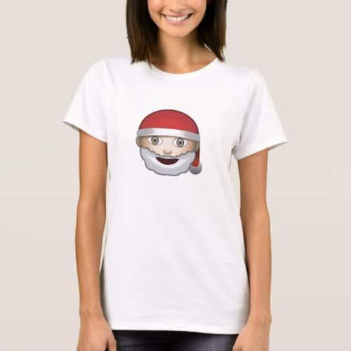 Father Christmas Emoji T-Shirt for Women