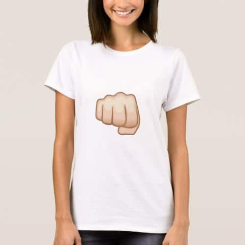 Fisted Hand Sign Emoji T-Shirt for Women