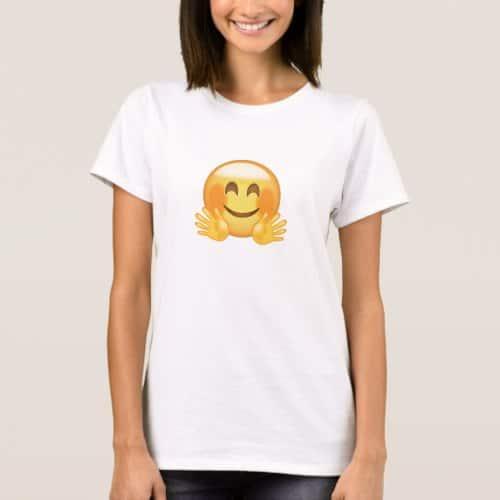 Hugging Face Emoji T-Shirt for Women