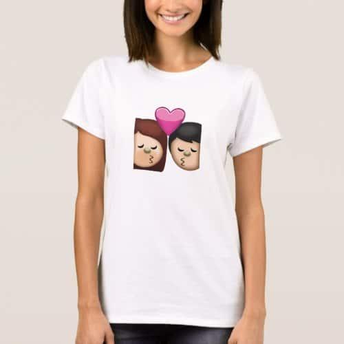 Kiss Emoji T-Shirt for Women