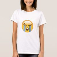 Loudly Crying Face Emoji T-Shirt for Women
