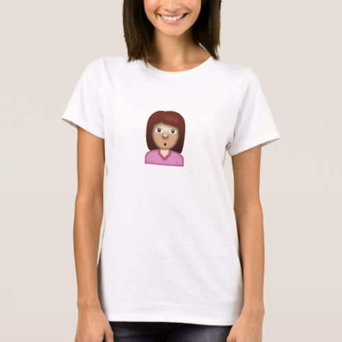 Person with Pouting Face Emoji T-Shirt for Women