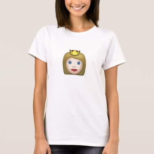 Princess Emoji T-Shirt for Women