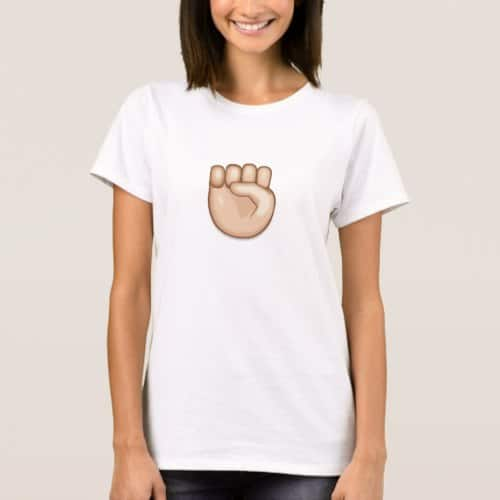 Raised Fist Emoji T-Shirt for Women