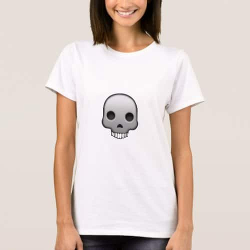 Skull Emoji T-Shirt for Women