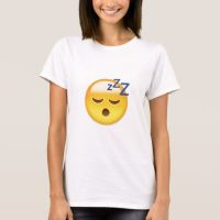 Sleeping Face Emoji T-Shirt for Women