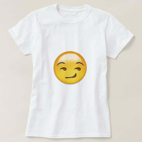 Smirking Face Emoji T-Shirt for Women