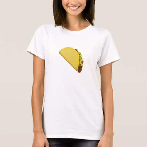 Taco Emoji T-Shirt for Women