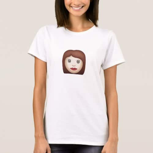 Woman Emoji T-Shirt for Women