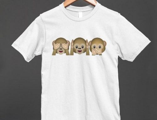 Emoji Three Wise Monkeys Tank and Tee now available!