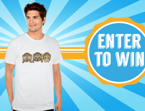 Win an three wise monkeys Emoji Shirt